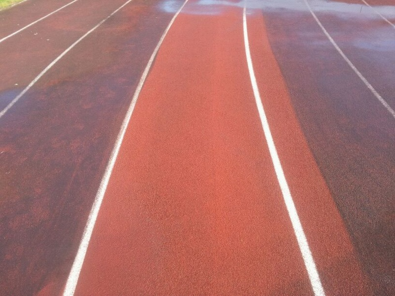 Running track post cleaning