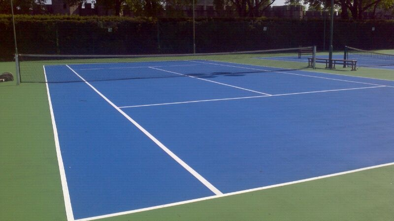 Acrylic Tennis Court Repainted