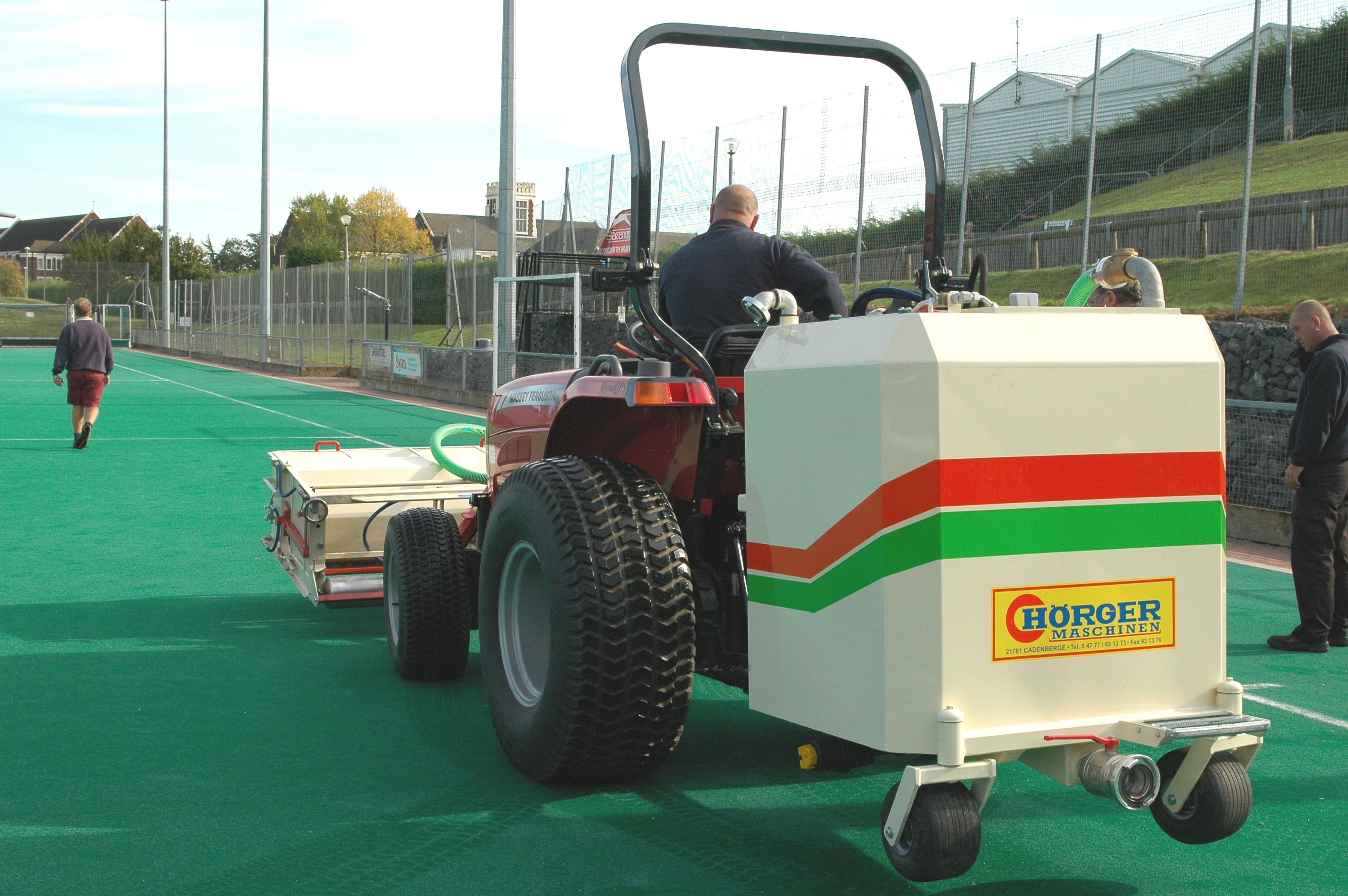 Water Based Hockey Pitch Cleaning